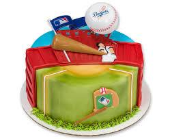 mlb los angeles dodgers home run baseball cake topper decorating