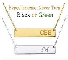 Engraved Monogram Necklace Gold Monogram Necklace Ebay