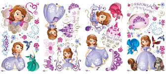 disney junior sofia giant peel stick wall decals