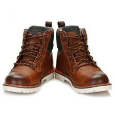 trouva toms mens brown ashland leather boots