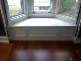 decorations simple bay window seating design with wooden floor