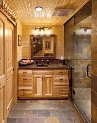 bathroom tropical bathroom ideas with wood ceiling and slate tile