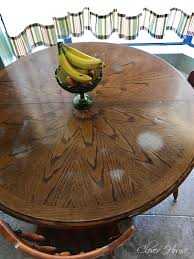 how to remove white heat spots from wood furniture clover house removing white heat marks from your table top