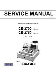 casio ce 3700 service manual