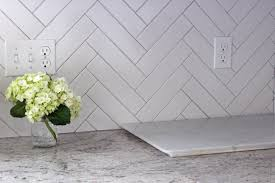 decor u0026 tips porcelain herringbone backsplash for kitchen with