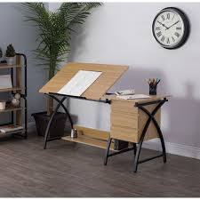 Drafting Craft Table Studio Designs Deluxe Comet Charcoal Ashwood Drafting Table