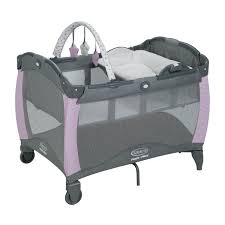 Pink And Brown Graco Pack N Play With Changing Table Graco Pack N Play Bassinets Play Yards Babies R Us