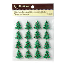 recollections glitter embellishments christmas tree