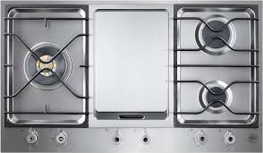 Sealed Burner Gas Cooktop Bertazzoni Pm3630gx 36 Inch Segmented Gas Cooktop With 3 Sealed