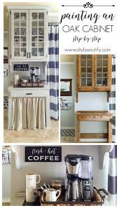 Coffee Bar Cabinet Painted Farmhouse Cabinet Diy Beautify