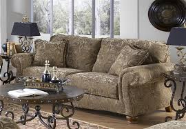 Tapestry Sofa Living Room Furniture Sofa Sleeper In Antique Fabric By Jackson Furniture 4448 04