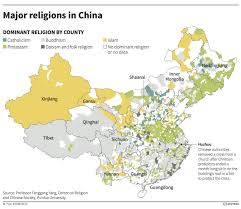 World Map China by Map Showing Religions In China Business Insider