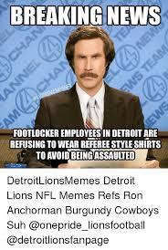 Ron Burgundy Meme - breaking news footlockeremployeesin detroit are refusing to wear
