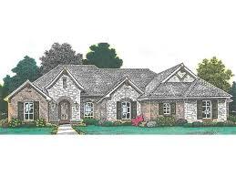house plans european country blends brick and stucco hwbdo76864 european