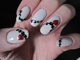 valentine u0027s day heart necklace nail art youtube