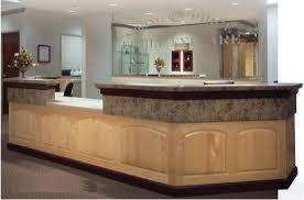 Ada Compliant Reception Desk Eyecare Business Store Decor Senior Management