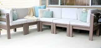 Diy Sofa Slipcover by Furniture Diy Outdoor Sectional Sofa With Cushioned Back And