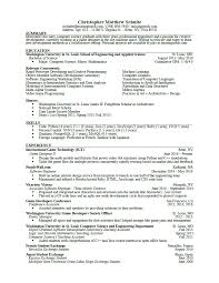Introduction To A Resume Listing Relevant Coursework On A Resume