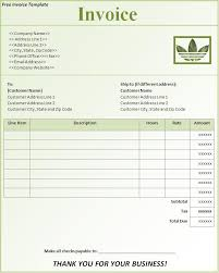 sample invoice in excel