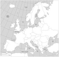 Blank Map Of North Africa by Europe Blank Map Europe Map European Map