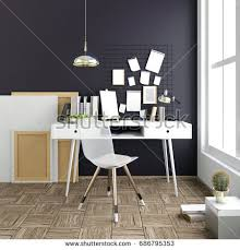 modern light interior place study consisting stock illustration