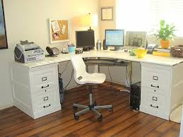 Computer Desk With File Cabinet 18 Diy Desks To Enhance Your Home Office