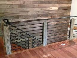 industrial loft staircases reclaimed wood and steel railing