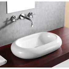rounded edge oval porcelain ceramic countertop bathroom vessel