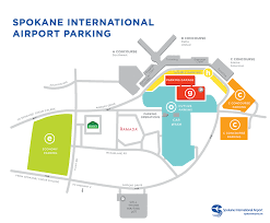 Spokane Usa Map by Spokane Intl Airport U003e Parking And Transportation U003e Parking Info