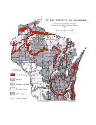 Wisconsin Lake Maps by Map Of The Day July 9 Ice Age Deposits Of Wisconsin 1954
