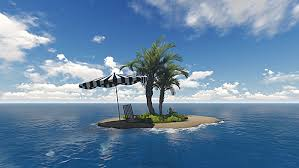 tropical island with palm tree travel concept by se5d videohive