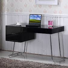 White High Gloss Computer Desk Lumiere Computer Desk High Gloss Black Computer Desk