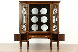 antique hutch with glass doors curio cabinet antique curved glass curio cabinet would like to