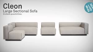 cleon large sectional sofa by blu dot youtube