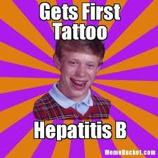 Bad Tattoo Meme - gets first tattoo create your own meme