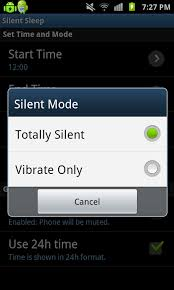 android sleep mode set silent mode on phone during time with silent sleep app