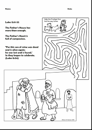 prodigal son coloring page parable of the prodigal son coloring