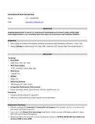 java resume resume for java devloper