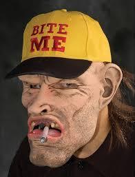 dude bite me mask 166720 halloween mask trendyhalloween com