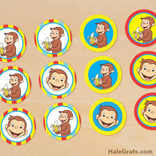 printable curious george cupcake toppers