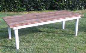 Vineyard Bench Vineyard Natural Top Dining Table Town U0026 Country Event Rentals