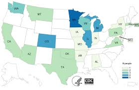 map n count maps multistate outbreak of shiga toxin producing