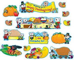 carson dellosa thanksgiving bulletin board set
