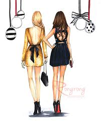 best friend fashion illustration by rongrongillustration more fun