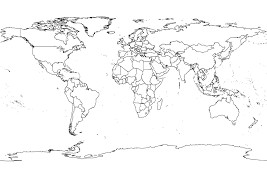 Simple World Map World Map Black And White Outline U2013 Otbd