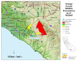 Los Angeles Fires Map by Ca Oes Fire Socal 2007