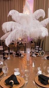 Ostrich Feather Centerpiece Centerpieces