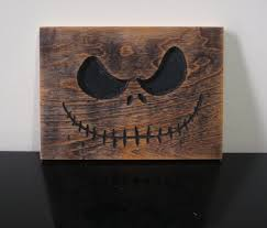 jack skellington wood carving nightmare before christmas art