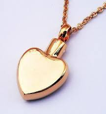 necklace urns for ashes cremation ashes jewellery keepsake necklace urn heart of gold