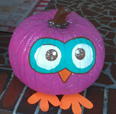 halloween owls alyssa u0027s painted owl pumpkin she has a few fininshing touches